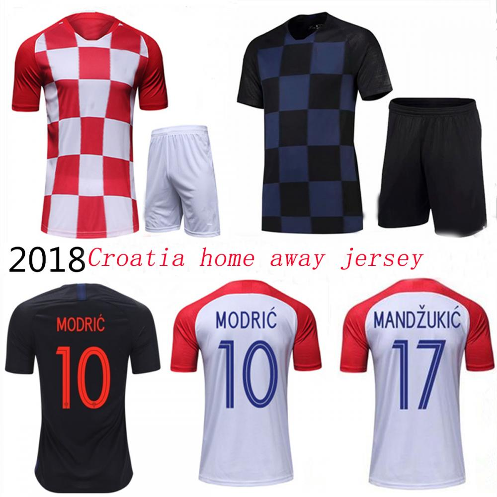 18 19 World Cup Croatia Soccer Jersey Home Away  Red BlueThai version