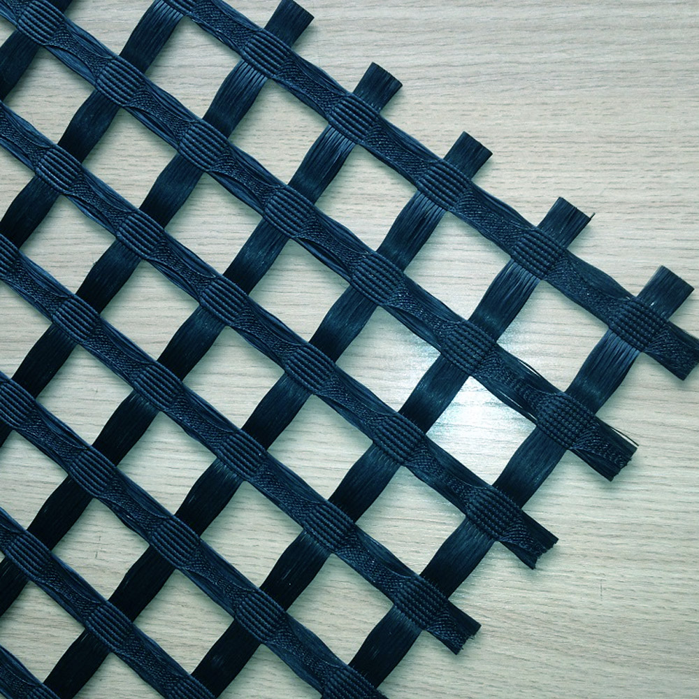 PVC Coated Pavement Reinforcement Glassfiber Geogrid Mesh