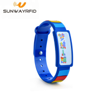 New Product for Colorful Silicone RFID Wristbands Adjustable MIFARE Ultralight EV1 PVC RFID Wristband export to Haiti Factories