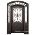 China Facotry Derect Custom Wrought Iron Front Entry Door
