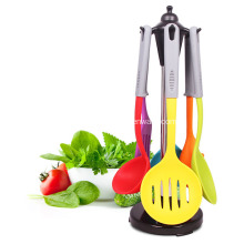 Factory provide nice price for Steel Tube Kitchen Tools Silicone Cooking Utensils set supply to India Importers