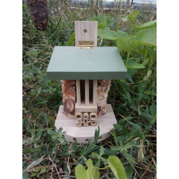 Natural Wooden Insect House Standing
