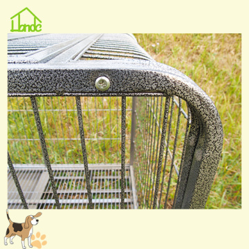 Heavy duty steel pet dog kennel cage