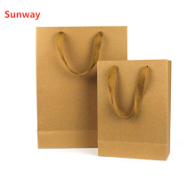 Custom kraft merchandise bags with handles