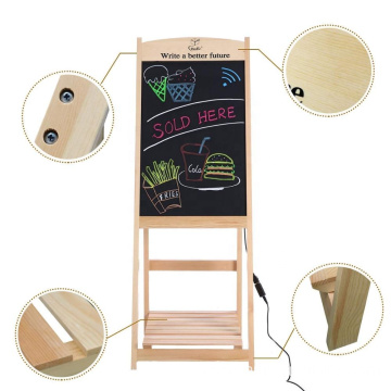 Wood A  Frame LED DIY Chalkboard Chlakboard Sign