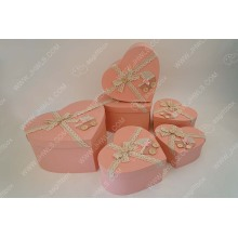 Wholesale Price China for Hat packing box Pink wallpaper bow tie heart gift box supply to New Zealand Suppliers