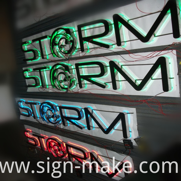 RGB back lit sign