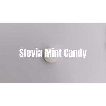 Factory wholesale custom 100%Natural stevia Peach mint sweet candy