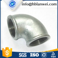 BS galvanized beaded elbow M.I. pipe fittings