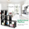 6 cubes folding diy decorative storage plastic shelf