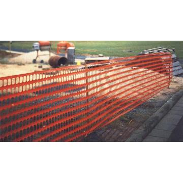 orange plastic barrier neting