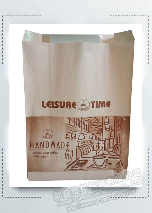 Food Packaging Kraft Paper Bread Bag