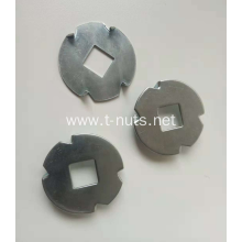 Best Quality for China Doggie Tooth Washers,Dog Tooth Washers,Metal Doggie Tooth Washers Supplier Square hole four - barbed Doggie Washers export to Iraq Manufacturer