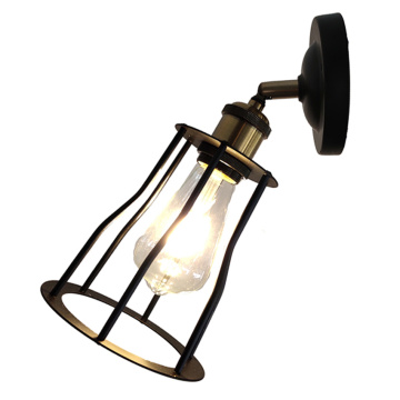 High quality indoor coffee shop iron wall lamp