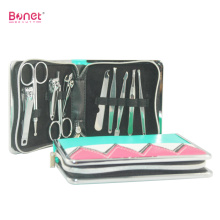 China for Leather Manicure Set,Leather Travel Manicure Set,Women'S Leather Manicure Set Manufacturer in China 10 in 1 Portable Travel Grooming Kit export to France Manufacturers