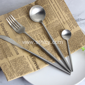 Royal Restaurant Long Handle Stainless Steel Flatware Set