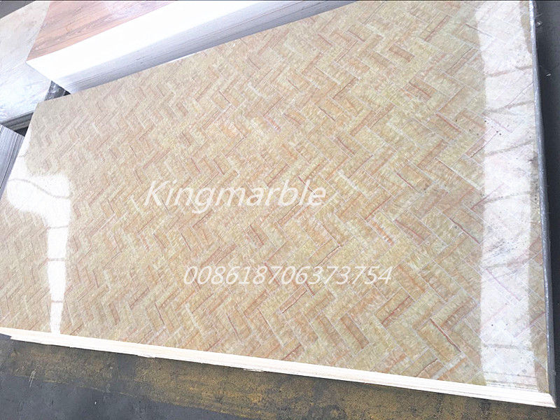 wall pvc marble corrugated sheet