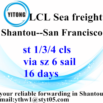 Shantou to San Francisco LCL BULK operations services