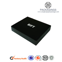 New black matt paper folding gift box