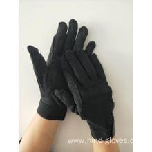 Black Deluxe Sure Grip Horse Riding Gloves