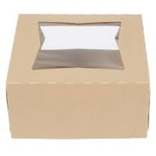 China for Cake Box With Handle Custom kraft paper bakery cake boxes with window export to Virgin Islands (British) Wholesale