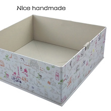 Colorful Silk Ribbon Closure Folding Gift Paper Box