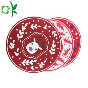 Eco-friendly Silicone Tea Cup Christmas Coaster Sets