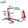 2 ton car folding hoist shop engine crane