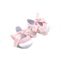 Hot-Sell Cute White Satin Upper Baptism Baby Shoes