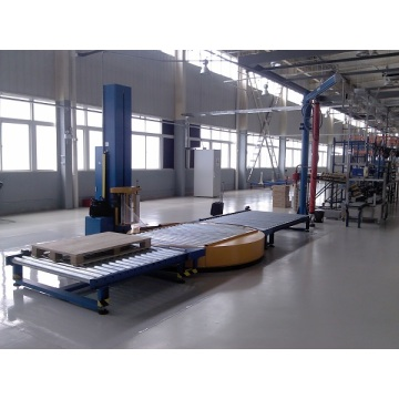 In-line Automatic Stretch Film Turntable Wrapping Machine