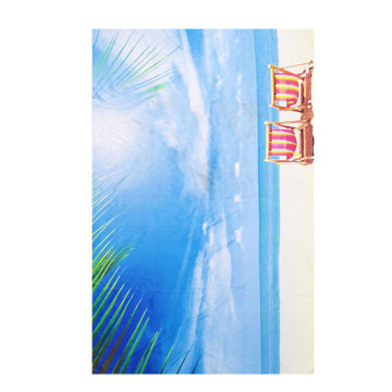 india blue and white oem beach towel sublimation