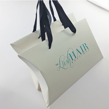 white Fine Gift Pillow Boxes with your logo