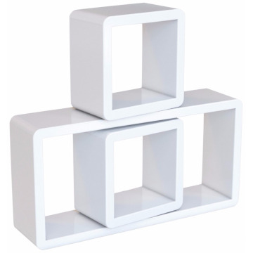 China for Floating Wood Shelves Wall Shelves Set of 3 Cube Floating Shelves Storage MDF Display Wall Shelves Set of 3 Cube Floating Shelves Storage MDF Display export to Guadeloupe Wholesale