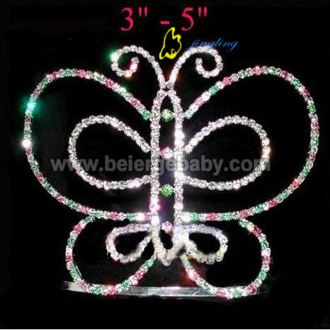 Rhinestone butterfly crown CR-291