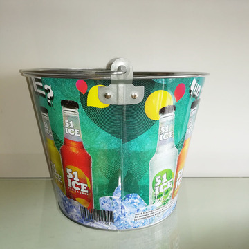 popular colour print Ice bucket with handle