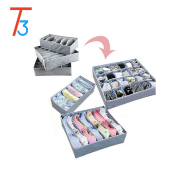 Foldable underwear storage box bra socks organizer for underwear storage