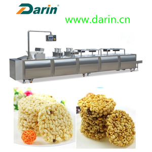 Extruded rice cereal bar compression molding machine