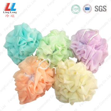 Microfiber with mesh sponge bath ball
