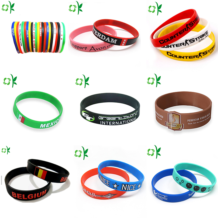 Silicone printed bracelet