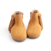 Mocassins Leather Kids Baby  Boot Winter