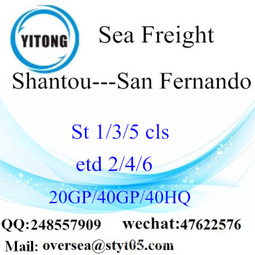 Shantou Port Sea Freight Shipping To San Fernando