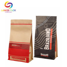 Barrier Laminated Packaging Flat Bottom Custom Kraft Pouch