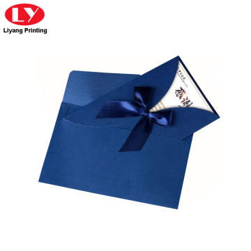 Invitation paper gift card printing with envelope