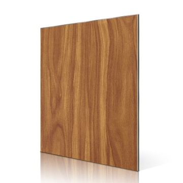 High quality wood grain aluminum composite panel