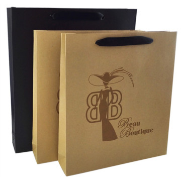 Custom Rigid Stone Paper Bag PVC Window