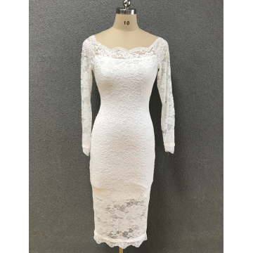 women's white lace dress