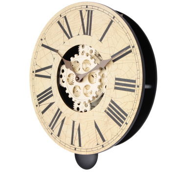14 Inch Wooden Gear Wall Hanging Clocks