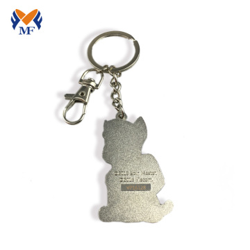 Custom metal engraved keychain for best friend