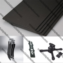 Full 3K Twill Matte Carbon Fiber Sheet 5.0mm