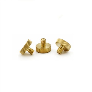 Brass Plain Finish Knurled Head Thumb Screw